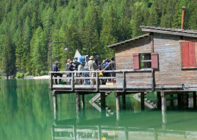 Dreharbeiten am Pragser Wildsee