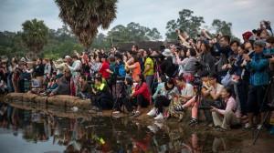 Menschenmassen in Angkor Wat
