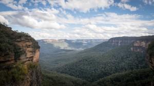 Aussicht auf die Blue Mountains