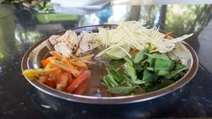 Zutaten für den Mango Salat