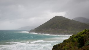 Die Great Ocean Road bei Regen
