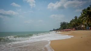 stürmischer Strand in Samui