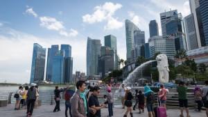 Singapurs Wahrzeichen Merlion