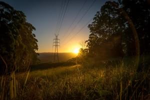 Sonnenuntergang über der Sunshine Coast